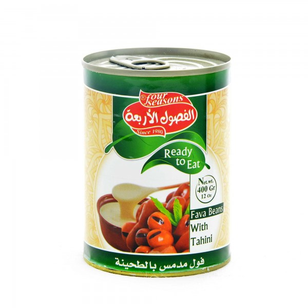 Four Seasons cooked fava beans with tahina 400g