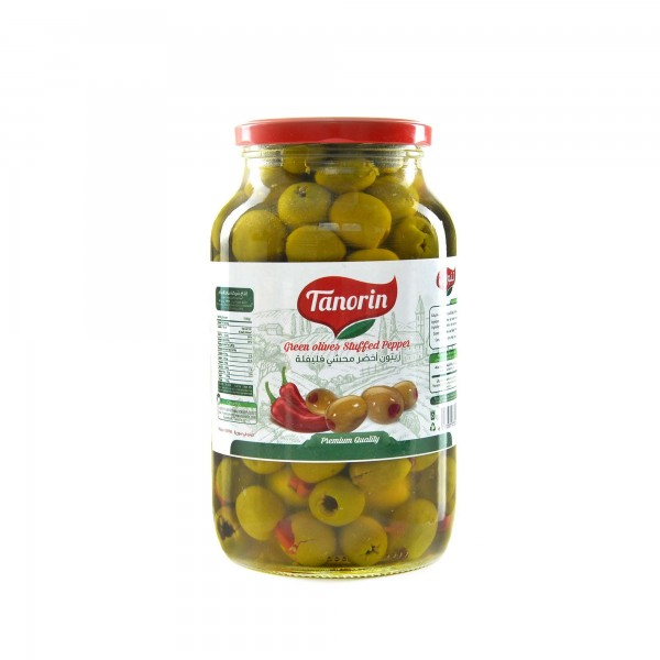 Tanorin olives green stuffed with peppers 1250 g