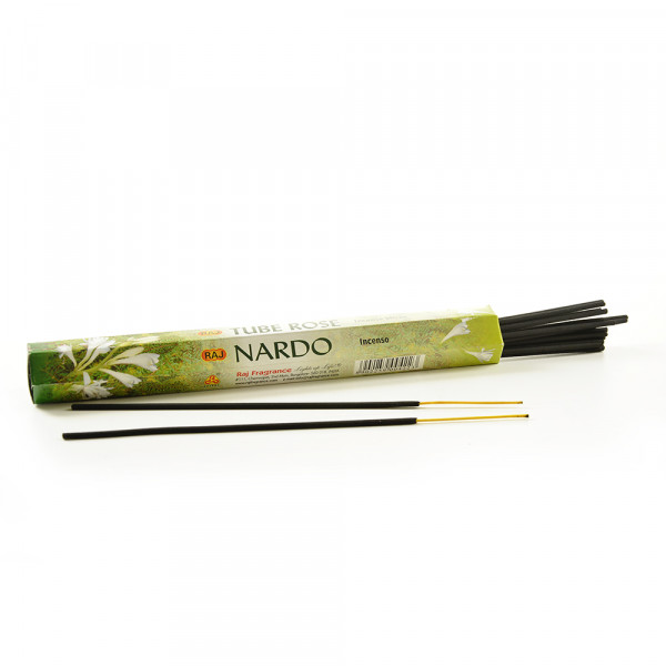 Raj Tube Rose Incense Scented 20 Sticks