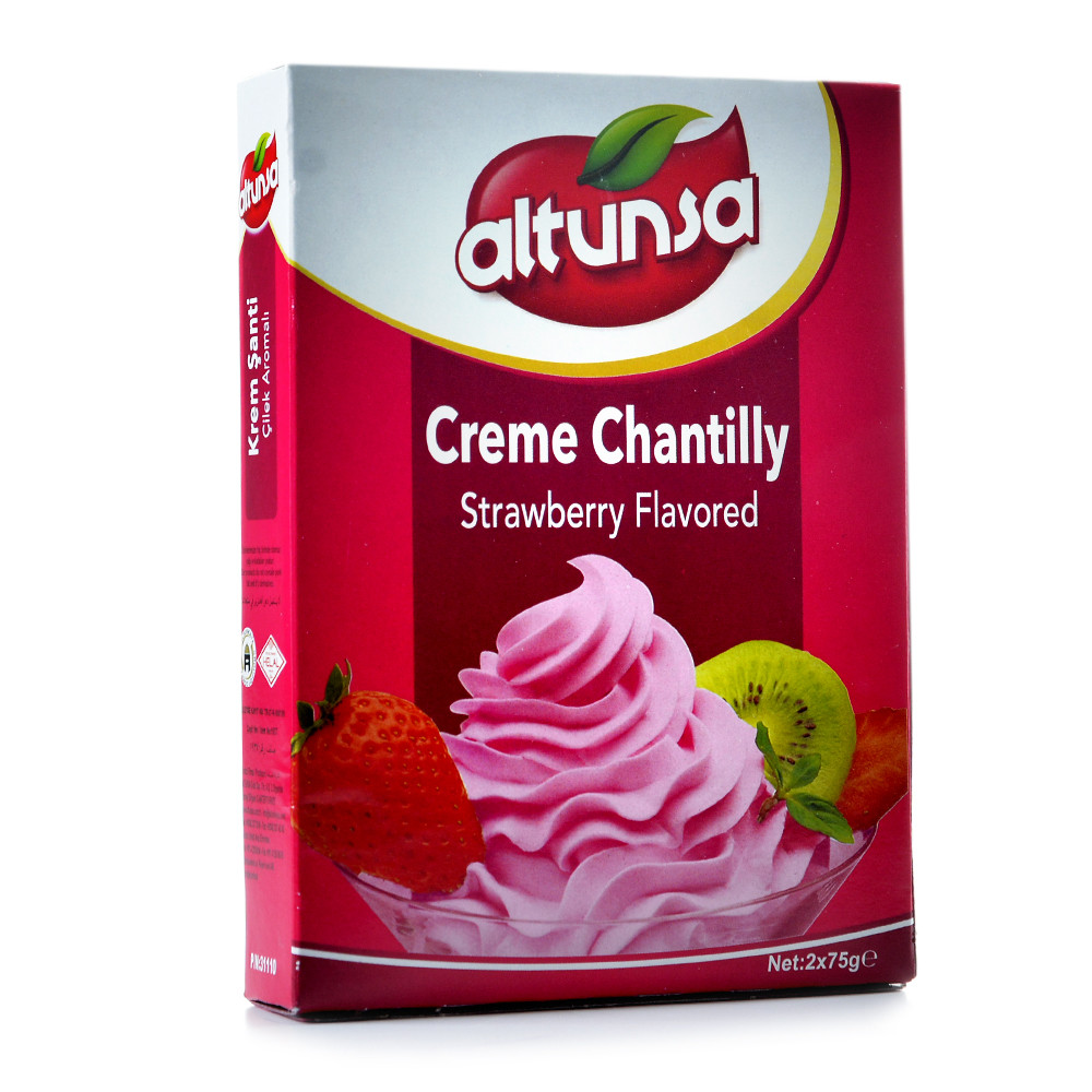 Whipped Cream 150 G Strawberries Altunsa