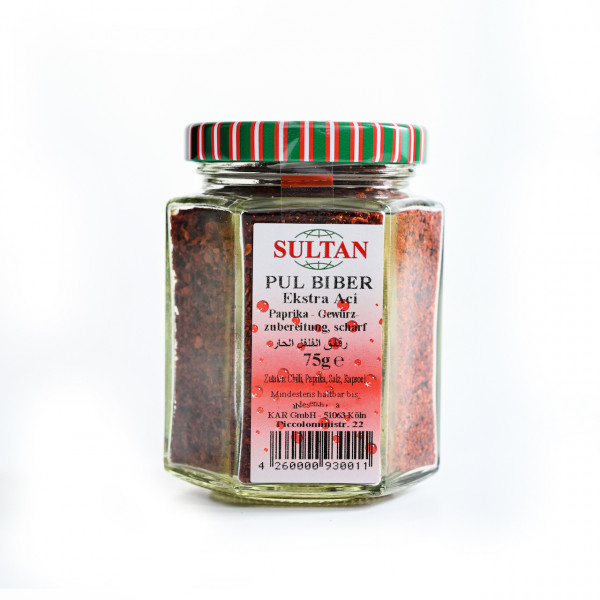 Sultan Hot Paprika in glass 75 g