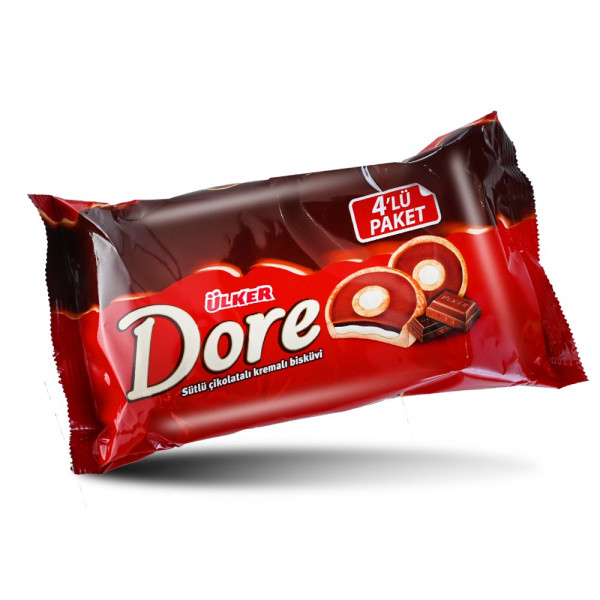 Ülker Dore Biscuit Chocolate and Caramel 4 Pieces