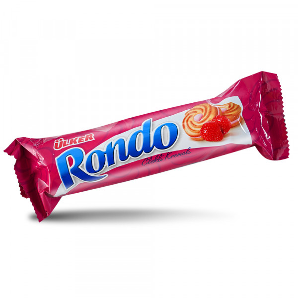 Ülker Rondo Biscuit with Strawberry flavour