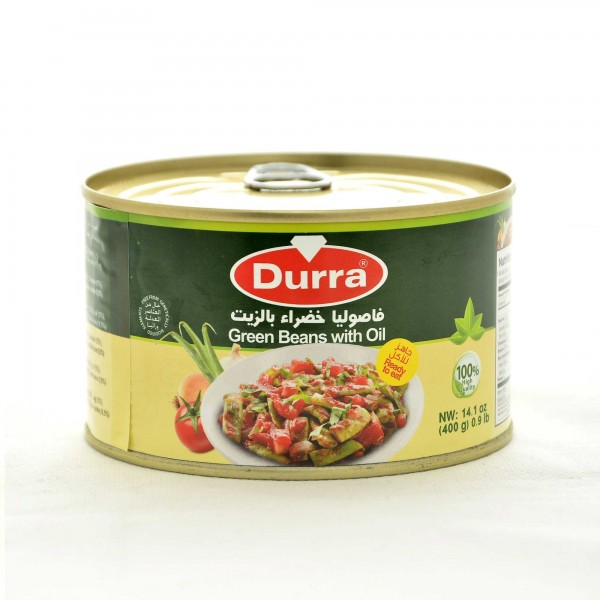 Durra green beans with oil 400g