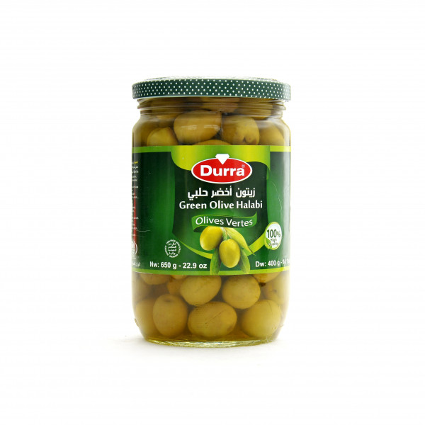 Durra olives green Aleppo 650 g