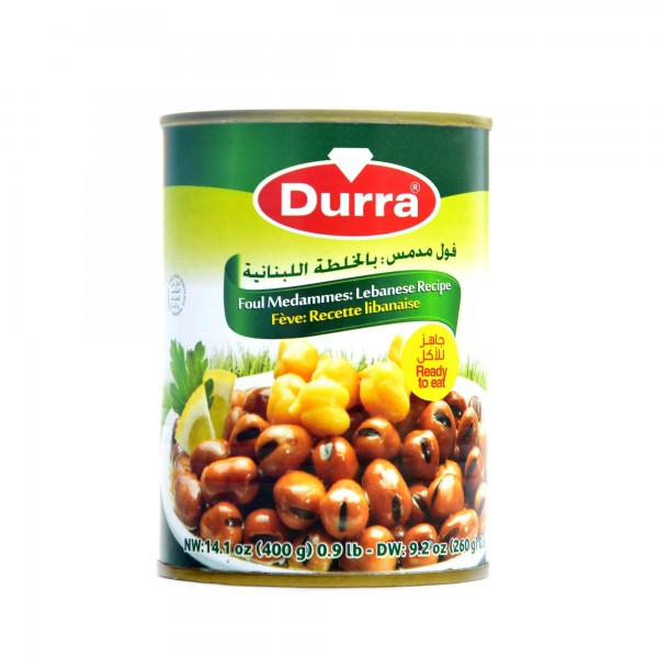 Durra cooked fava beans Lebanese recipe 400g