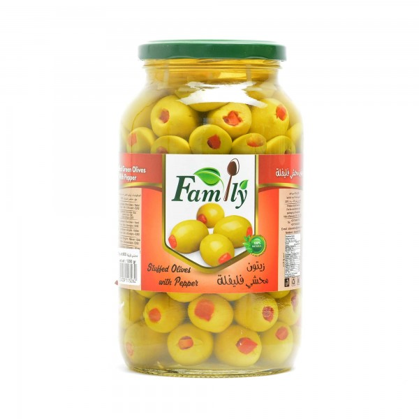 Olives (filled with Paprika) FAMILY 1350 g