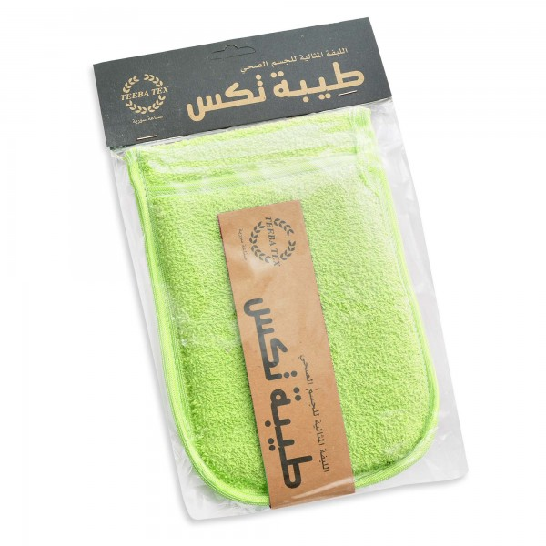 bath sponge Square shape green- adults