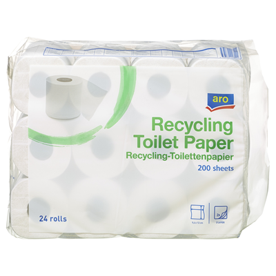 aro Recycling Toilet Paper White 2 ply