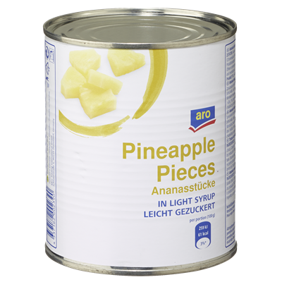 aro pineapple lightly sugared, in pieces 850 ml can
