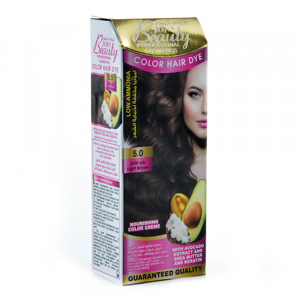 Hair Color beauty jojo light brown 5.0 50 ml