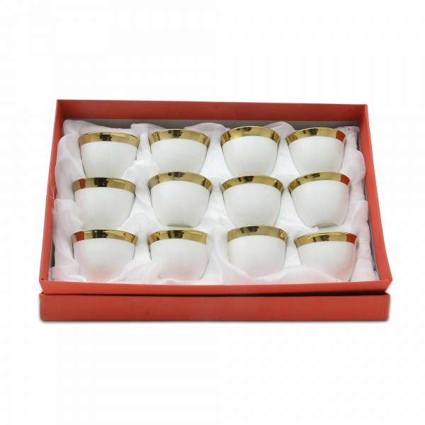 Arabic coffee cups-gold 12 pieces