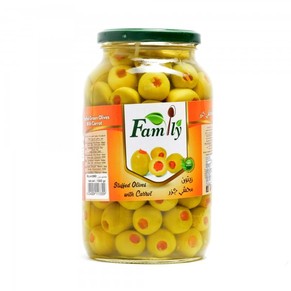 Olives (filled with Carrots) FAMILY 1350 g