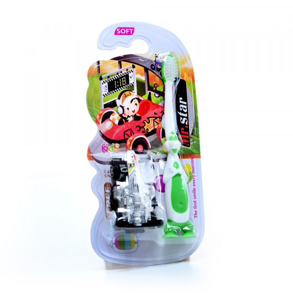 Play Toothbrushes with green car