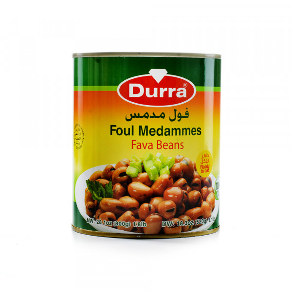 Durra cooked fava beans 800 g