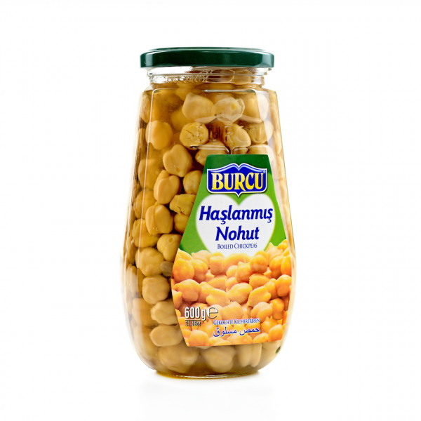 Burcu cooked chickpeas in a glass 600g