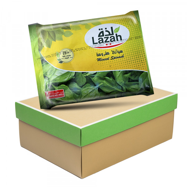 package lazah Chopped spinach x20 400 g