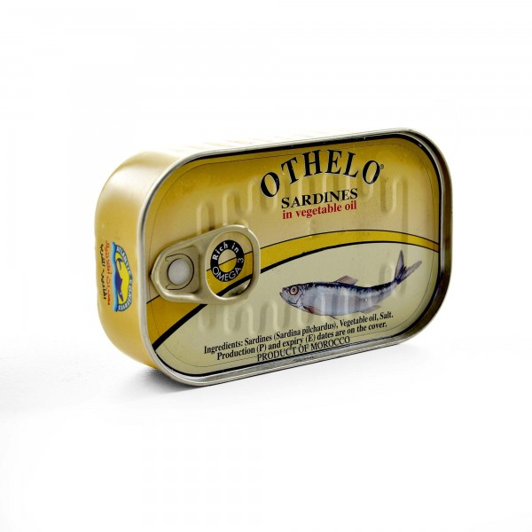 Othelo Sardines with vegetable oil 125GR