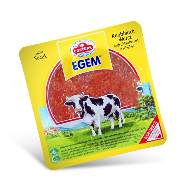Egetürk Egem Beef Salami with garlic 200 g