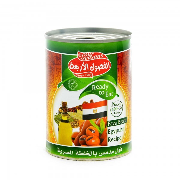 Four Seasons cooked fava beans Egyptian recipe 400g