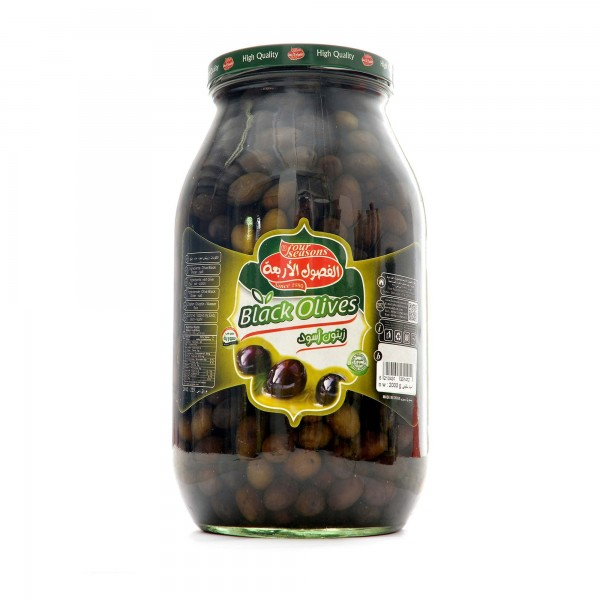 Four Seasons olives black 2000g