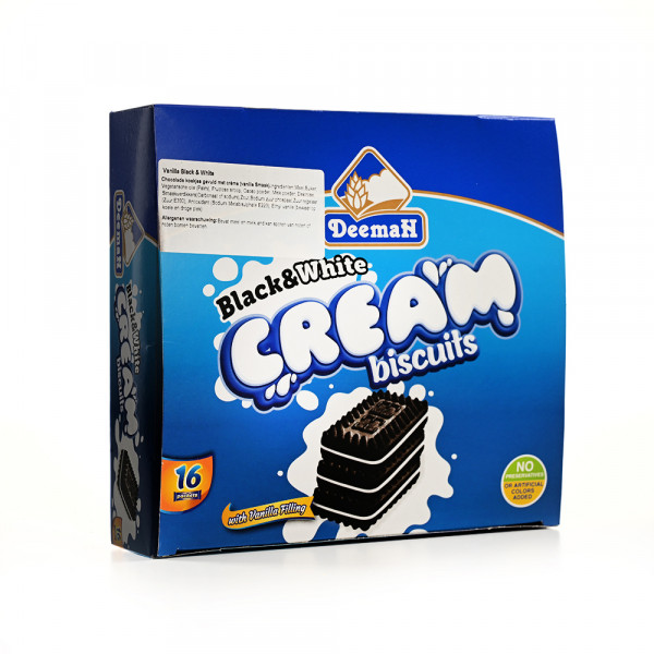 black&white cream - biscuit - Deemah - 16 pieces