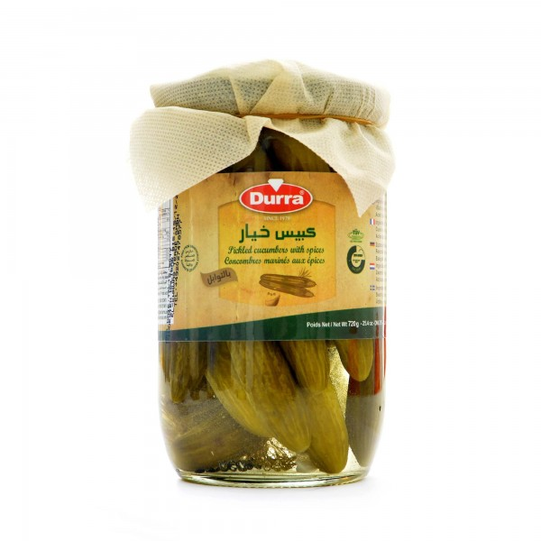 Durra pickled cucumber with spices 720g